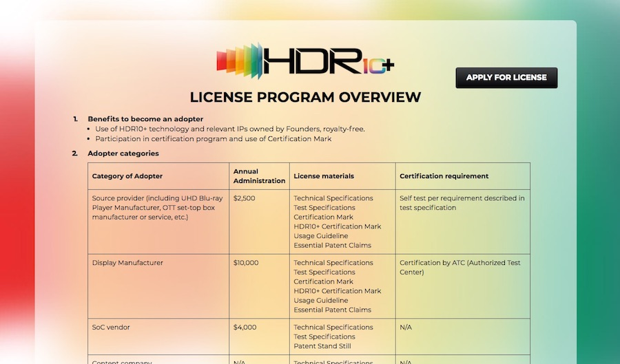 HDR10+ Announces First Certified Products, Adopters